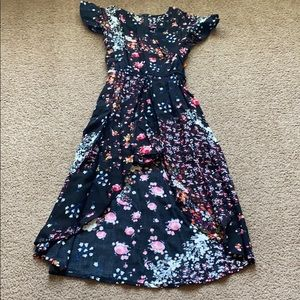 Floral Romper Dress size 4/5 💕